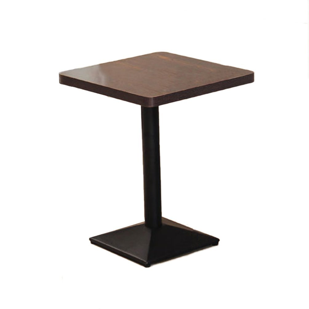 Folding Chair Home Restaurante Occidental Mesas de Comedor Bares de restaurantes Bares de bocadillos Leche Té Postres Mesas y sillas Combinaciones Mesa Plegable (Tamaño: 60  60  75 cm)