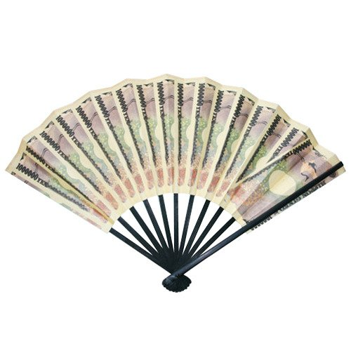 One Million Japanese Yen Bill Play Money Folding Fan Sensu Japan
