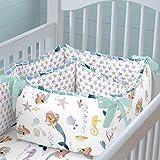 Carousel Designs Watercolor Mermaids Crib Bumper