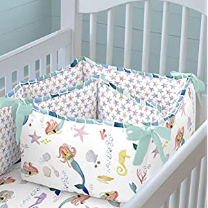 518B-lL-2RL._SS300_ Mermaid Crib Bedding and Mermaid Nursery Bedding Sets