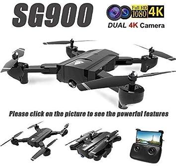 Dicstorets Dron Cámara Dual HD 720P Profesional FPV WiFi RC-Drone ...