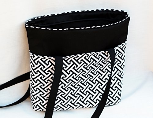 black-and-white-tote-bag-heavy-duty-fully-padded-interior-and-exterior-pockets-zippers