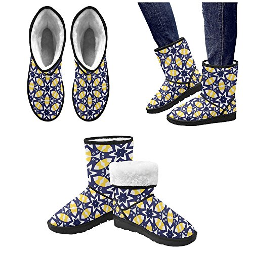 Flowers 5 5 Graphic 12 Fox Boots Snow Print Cute Animals Classic Color13 Pattern InterestPrint For Strawberry Women Size XYHfq6