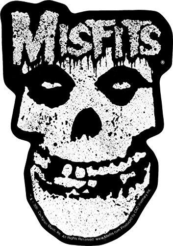 Misfits Shiny Silver Crimson Ghost - Skull with Splatters and Logo - Foil Bumper Sticker / Decal - Misfits Crimson Skeleton