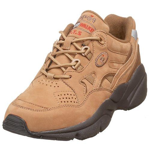 Propet Women's W2034 Stability Walker Sneaker,Mushroom/Choc,6 W (US Women's 6 D)