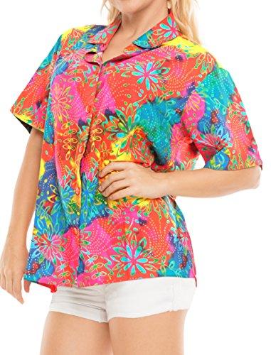 La Leela Likre Camp Casual Aloha Beach Collar Shirt Multi 452|S - US 34-36D Camp Outfit