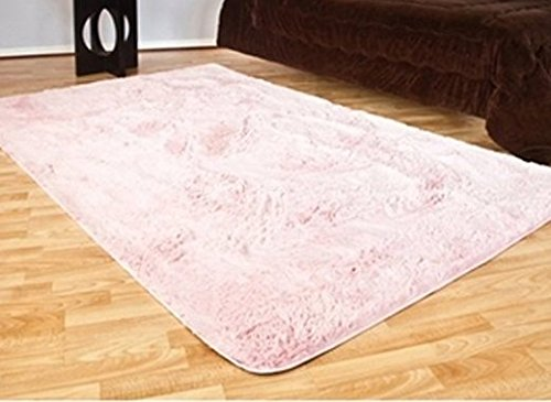 DormCo College Plush Rug 4 X 6 Baby Pink
