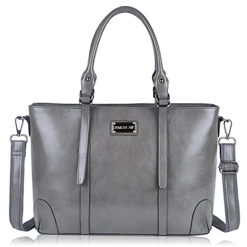 Laptop Bags Totes - ZMSnow Laptop Tote Bag,Business Large Capacity Computer Shoulder Work Bag With Adjustable Crossbody Strap up To 15.6 inches,Grey