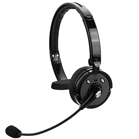 25eeb2f04e2 kiwitatá Truck Driver Wireless Bluetooth Headset Over The Head Hands Free  Noise Cancelling Headphones for iPhone
