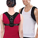 Posture Corrector Clavicle Chest Support Brace for Men and Women, Prevent Slouching and Back Pain Relief with Two Soft Pad (REG 28''- 47'')