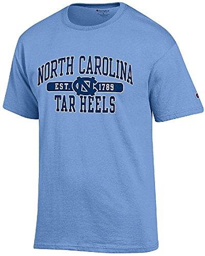 - Gear for Sports NCAA North Carolina Tarheels Champion Carolina Blue Established Short Sleeve T Shirt (Medium)