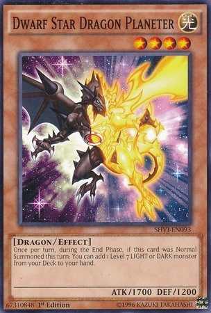 Yu-Gi-Oh! - Dwarf Star Dragon Planeter (SHVI-EN093) - Shining Victories - 1st Edition - Common