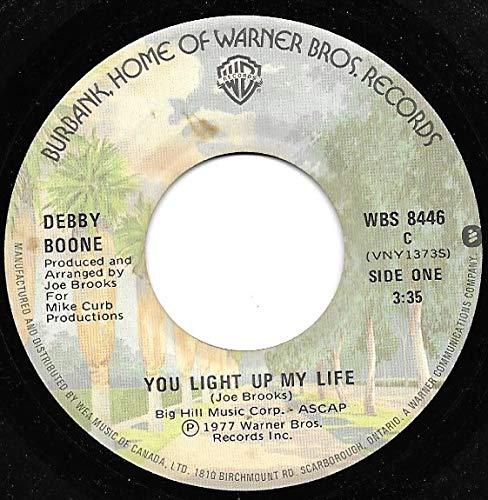45vinyl YOU LIGHT UP MY LIFE rpm Popular standard Seattle Mall REBEL 7