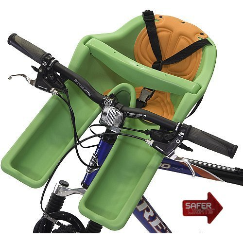 iBert Safe-T Front Mounted Child Bicycle Seat with Free Safer Light LED Safety Reflector