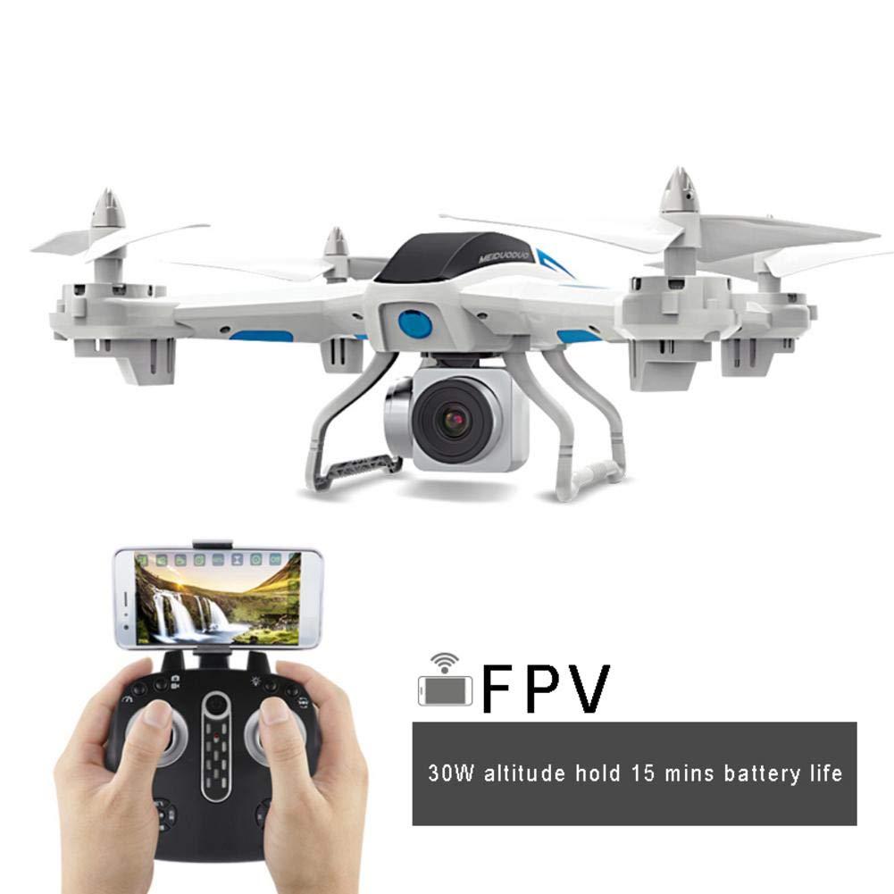 Fotografía aérea Drone WiFi con cámara, cámara HD, Quadrocopter de control la aplicación WiFi, 6 Modo sin cabeza ejes, Inicio/aterrizaje una tecla, Fl, Versión fija de 500 vatios 15 minutos en negro