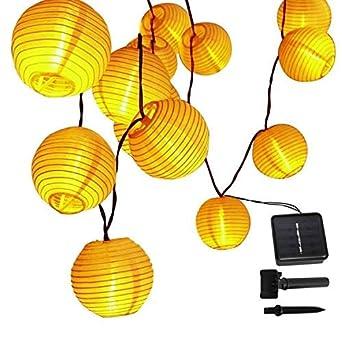 Timedmall Guirlande solaire lanternes, 6 m/30 LED extérieur étanche ...