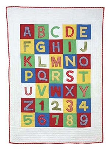 Amity Home ABC 123 Quilt, Baby, Multicolor CC216BQ