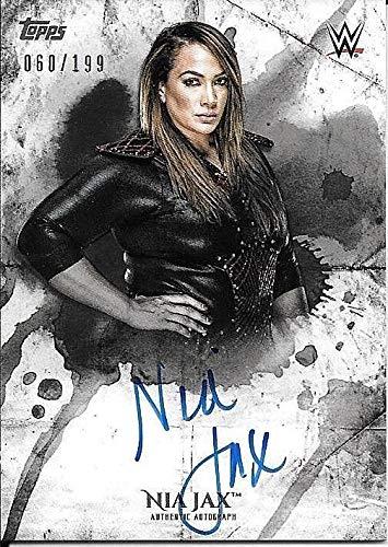 2018 Topps WWE Undisputed #NJ Nia Jax On Card Autograph #060/199