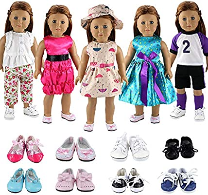 Fashion Black Shoes Boots For 18inch Girl Doll Party Gifts Baby Toys WD