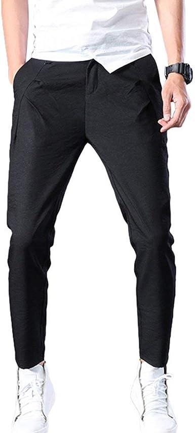 Targogo Pantalones Pantalones Ajustados De Corte Slim Para Hombre Pantalones Hombres Ajustados Pantalones De Basicas Pitillo Elasticos Pantalones De Chandal Amazon Es Ropa Y Accesorios