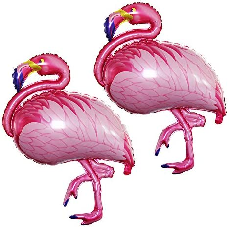 GOER Flamingos Foil Balloons2 Pcs Giant Helium Balloons for Flamingos Theme Birthday Party Decorations (Hot Pink 43 Inch)