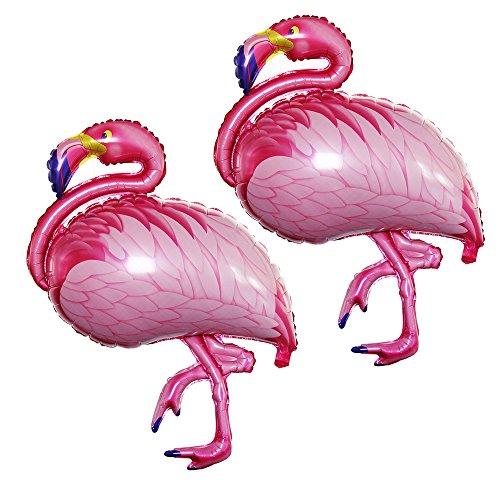 GOER 43 Inch Flamingos Foil Balloons,2 Pcs Giant Helium Balloons for Flamingos Theme Birthday Party Decorations -