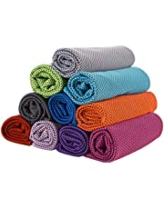 Cooling Towels,GJT 10 Colors Neck Reusable Chill Cool Absorbent Sports Towel for Golf Travel Gym Outdoor Sports Camping Football 30 * 80cm,10 pack