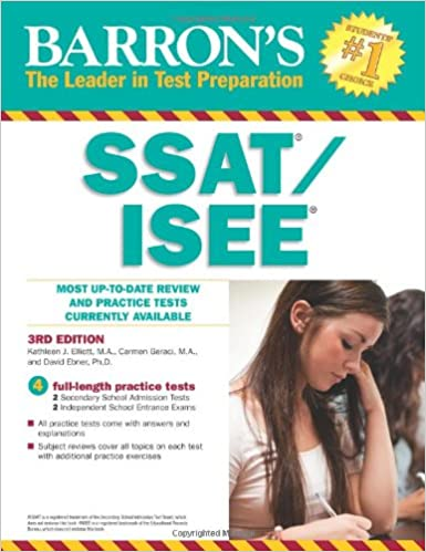 SSAT for high school?