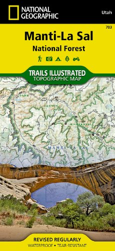 National Forest Trail Map (Manti-La Sal National Forest (National Geographic Trails Illustrated Map))