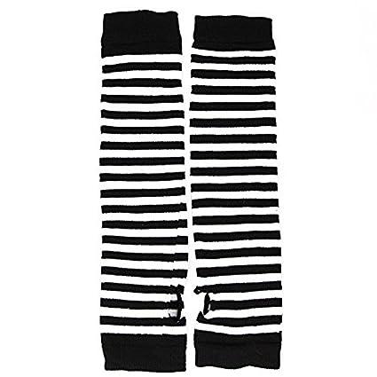 Gants sans doigts Gants /à rayures horizontales avec chauffe-mains Gants mitaines Gants extensibles