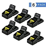 #10: Mouse Trap, 6 Pack Skillink Mice\Rat Trap Snap Humane Power Rodent Killer - Sensitive Reusable and Durable Sanitary Traps