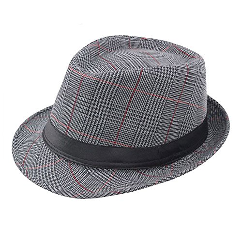 Respctful ♪☆ Hat ClearancesalesUnisex Print Fedora Hats Braid Straw Short Brim Jazz Cap