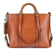 Kattee Women's 3-Way Genuine Leather Shoulder Tote Bag