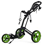 Clicgear Rovic RV2L Golf Push Cart (Charcoal / Lime)