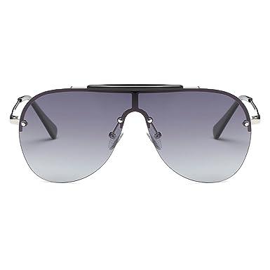 Kimorn Polarisé Lunettes De Soleil Hommes Rétro Pilotes Style Métal Cadre Des lunettes K0557 (Noir&Gris) 5qmcRN