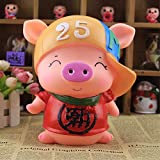 Kawaii Cute Pig Piggy Bank Resin Personalized Baby Nursery Decor Home Furnishing decoration Trendsetter