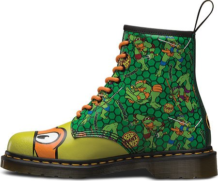 Dr Martens Unisex TMNT Mikey 8-Eyelet Leatther Boot Green / Multi-Green-11 Size 11