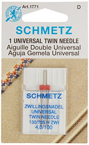 Schmetz Twin Machine Needle Size 4.0mm/100 (1 Zig Zag Sewing Machine)