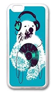 Apple Iphone 6 Case,WENJORS Adorable Record Bear Soft Case Protective Shell Cell Phone Cover For Apple Iphone 6 (4.7 Inch) - TPU Transparent