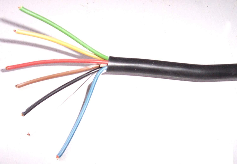 Fahrzeugleitung Anhä nger Kabel 7 x 1,5 mm² , Zuschnitt, 1 Meter lang, 7 adrig, 7 polig FLYY