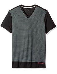 Calvin Klein Men's Short Sleeve Solid Dot Print Graphic V-Neck T-Shirt