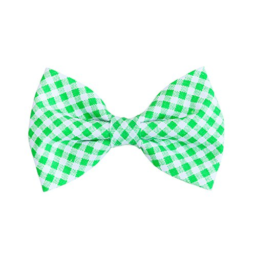 THE DOK Green Gingham - Dog Cat Pet Bow Tie Bowtie Collar Accessory 4 inch