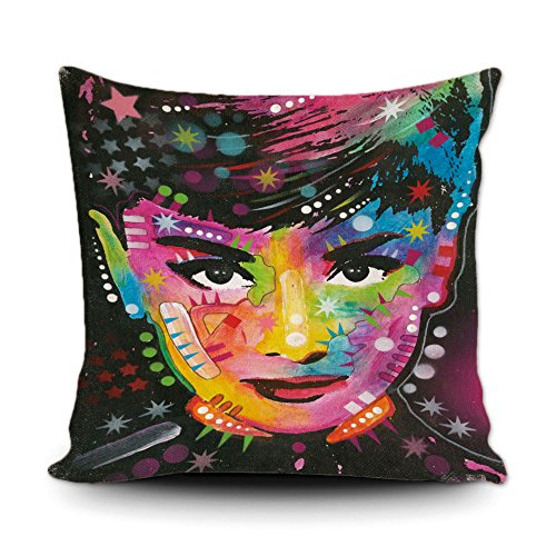 CafeTime CafeTime Audrey Hepburn Home Decorative Canvas Throw Pillow Cover 18