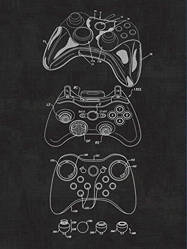- Xbox Controller, Video Games, Blueprint Patent, Patent Poster, Safety Blueprint Poster, Art, Gift, Poster Print, Patent Poster