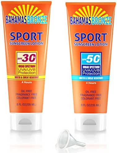Covert Flasks 8 oz Hidden Sunscreen Alcohol Flasks, 2-Pack