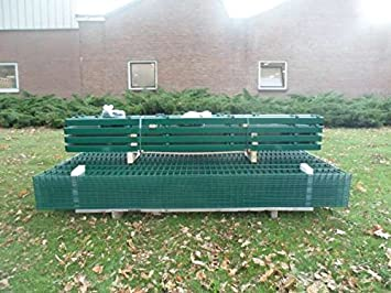 Bbt 10m Zaunanlage Gartenzaun Zaun 1830mm Doppelstabmatten