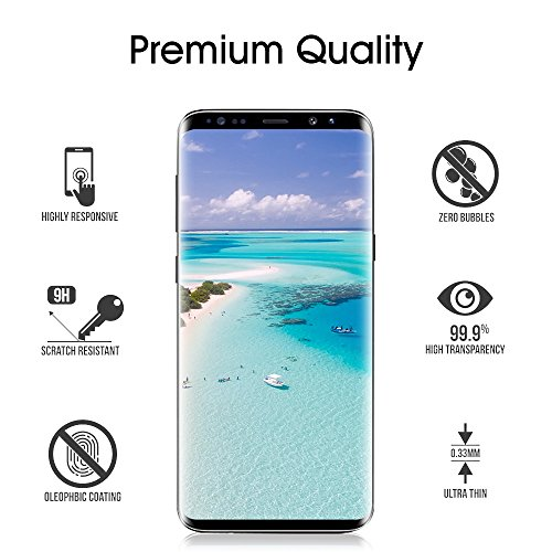 Galaxy S9 Plus Glass Screen Protector, [Update Version] OTAO 3D Curved Dot Matrix Samsung S9 PLUS Tempered Glass Screen Protector 2018 with Easy Installation Tray (Case Friendly) (NOT S9) by OTAO (Image #1)