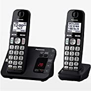 Panasonic Dect 6.0 Sistema de teléfono inalámbrico expandible con contestadora y Bloqueo de Llamadas, 2 audífo