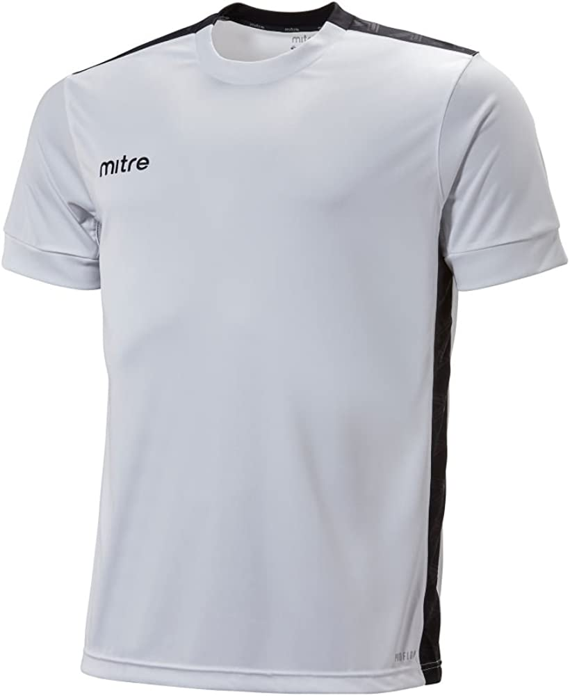 Mitre Childrens Charge Short Sleeve Football Match Day Shirt