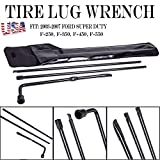 For Ford Super Duty F250 F350 F450 F550 Protable Spare Tire Lug Wrench Repair Tool Kit for Jack with Carry Case